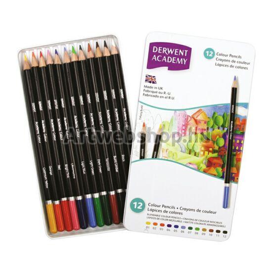 Academy Színes Ceruza - 12 darabos készlet