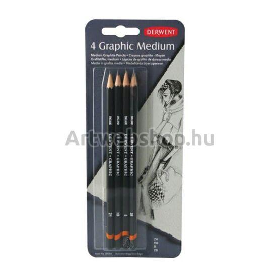 Derwent Grafitceruza - 4 darabos készlet (MEDIUM)