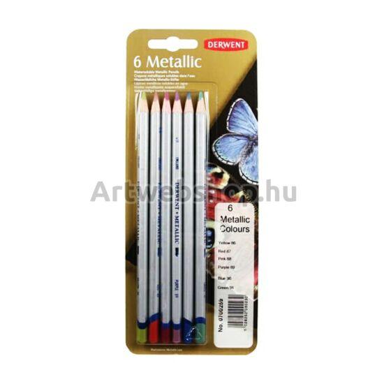 Derwent Metál Ceruza - 6 darabos készlet (színes)