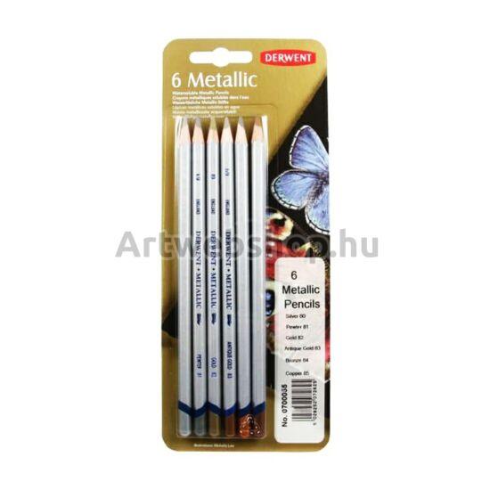 Derwent Metál Ceruza - 6 darabos készlet (tradicionális)