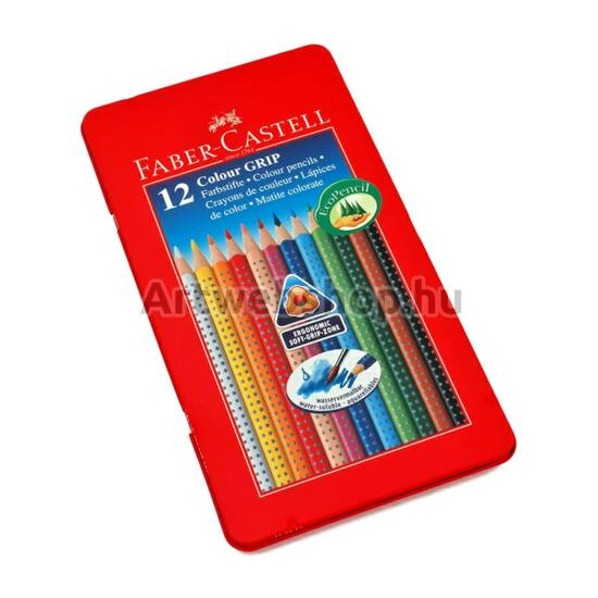 Faber-Castell Grip Színes Ceruza - 12 darabos készlet