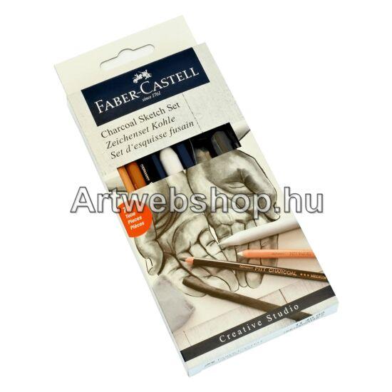 Faber-Castell Szén Rajzkészlet - 7 darabos