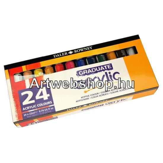 Graduate Akrilfesték - 24 darabos készlet