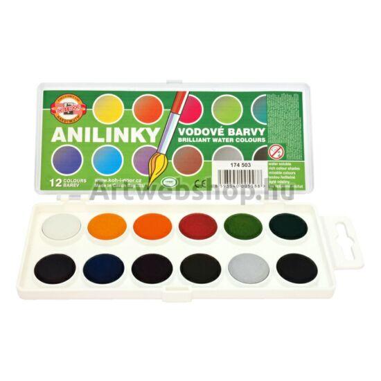 Anilinky Akvarellfesték - 12 darabos készlet