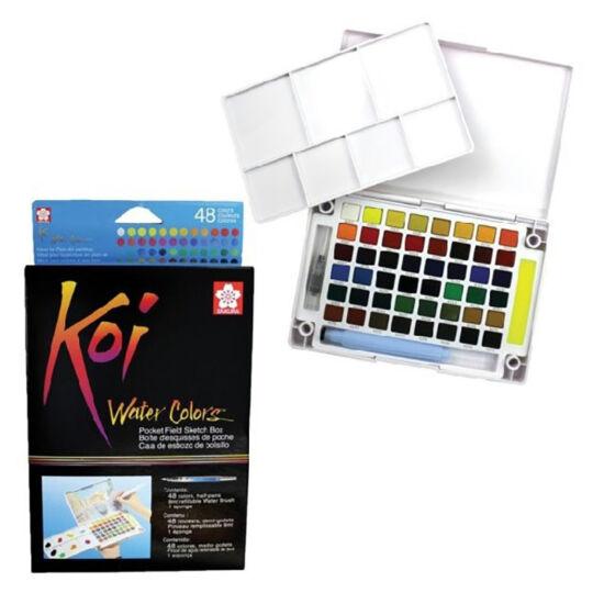 Koi Akvarellfesték - 48 darabos készlet