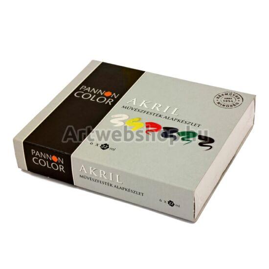 Pannoncolor Akrilfesték - 6 darabos készlet